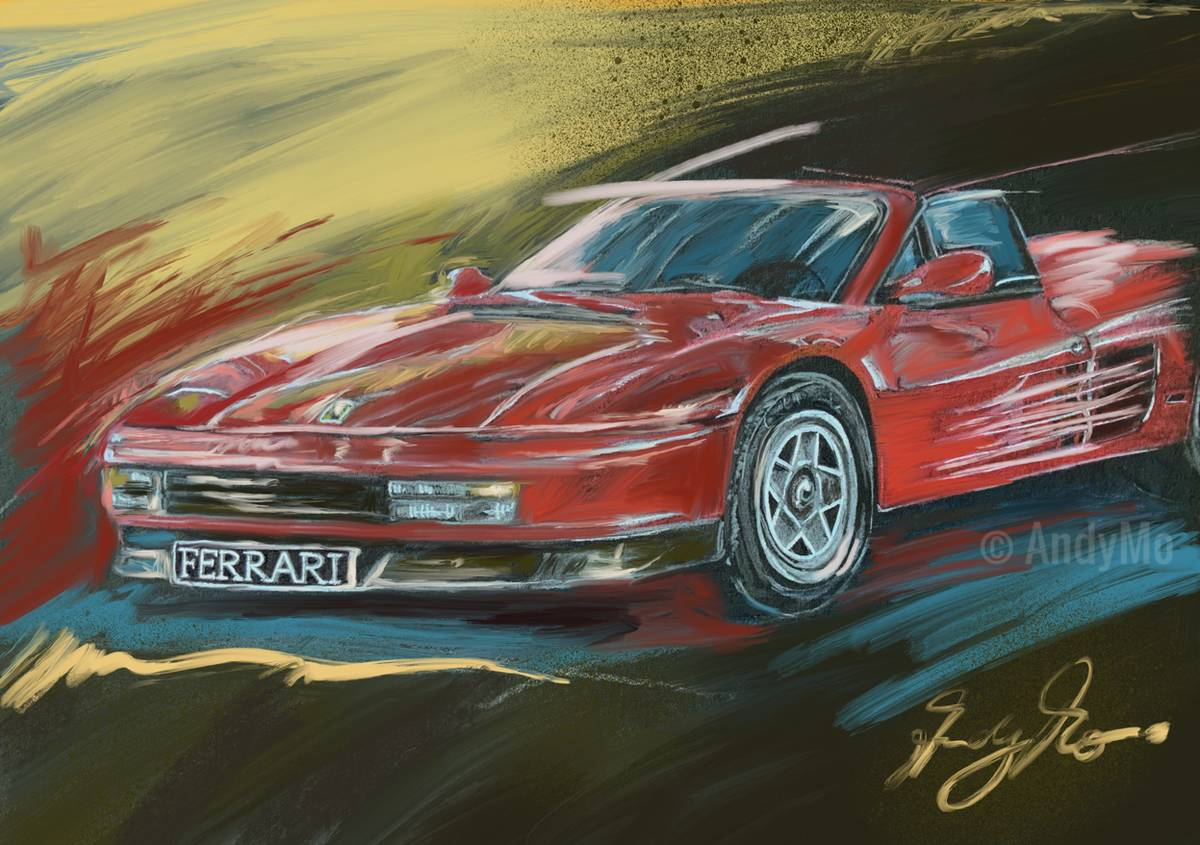"""Ferrari Passion"" Painting by AndyMo"