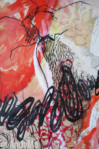 Paprika Rot | Ausschnitt | Mixed Media | AndyMo