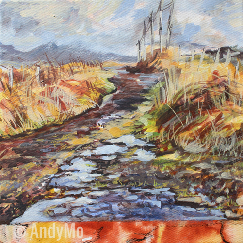 Dingle - Way to Ballyferriter | 30 x 30 cm | Acryl auf Leinwand | 2014 | AndyMo